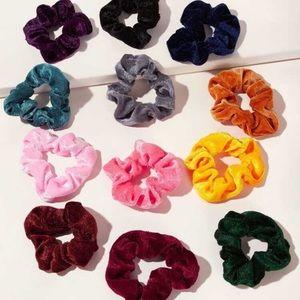 12 VSCO Velvet Scrunchies